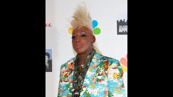 """Rodman attends the finale of the television show """"All-Star Celebrity Apprentice"""" in 2013. Rodman has appeared on several reality TV shows, even winning """"Celebrity Mole"""" in 2004."""