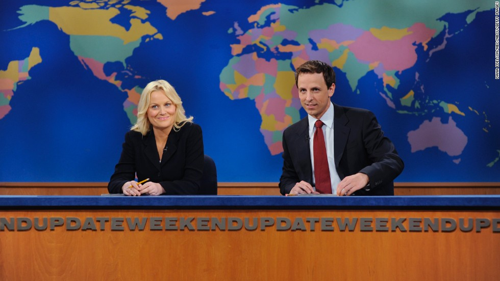 "Amy Poehler and BFF Fey not only hosted the ""Golden Globes"" and co-starred in their film ""Baby Mama,"" but they also both became break-out stars of the show. Poehler appeared on the show from 2001 to 2009. She now stars on the sitcom ""Parks and Recreation."""