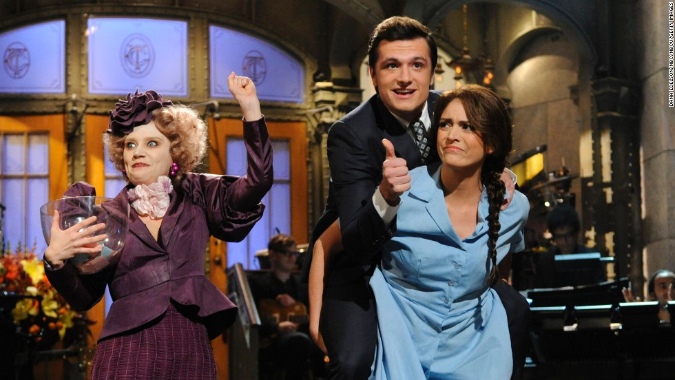 "Cecily Strong, right, began co-anchoring ""Weekend Update""  in 2013."