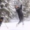snow golf gstaad shot