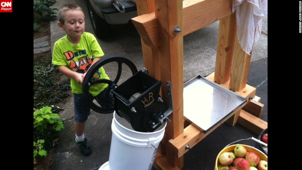 "James Prichard, a former stay-at-home dad in Oak Grove, Oregon, said there is no way to ""ensure kids are getting a healthy lunch or breakfast unless you pack it yourself."" So that's what he does. They now have their own chickens for eggs and built a cider press so they can freeze apple cider and have it throughout the year."