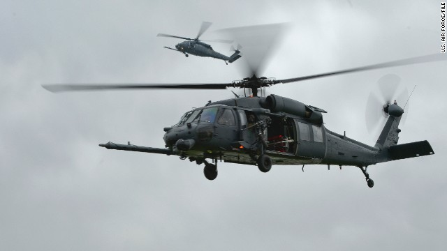A U.S. Air Force Pave Hawk HH-60G helicopter similar to this one crashed Tuesday on the North Sea coast of England.