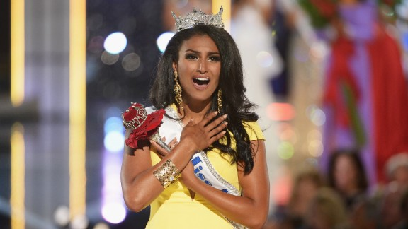 """Nina Davuluri became the first winner of Indian descent when she won the 2014 Miss America Competition and <a href=""""http://www.cnn.com/2013/09/18/us/miss-america-nina-davuluri/"""">drew headlines when her win spurred racist reactions online</a>."""