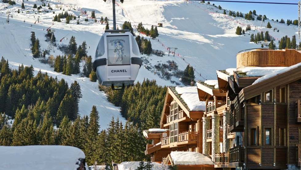 The L'Apogee Courchevel, which opened in December in the French Alps, offers ski-in/ski-out access from its location at the foot of the slopes.