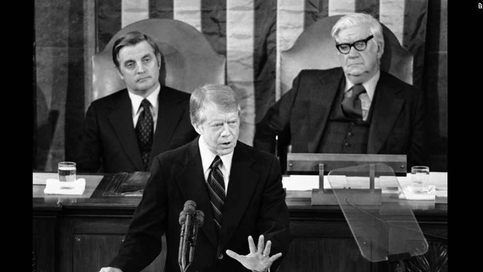 "President Jimmy Carter, a man who rode into the White House as an anti-government Washington outsider, lessened the focus on the war on poverty. ""Government cannot solve our problems,"" he said in his 1978 State of the Union address."
