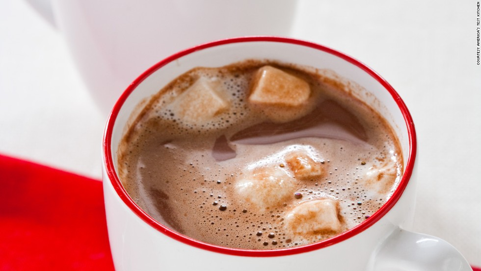Drink this rich hot chocolate on a cold, blustery day. Add marshmallows if that's how you roll.