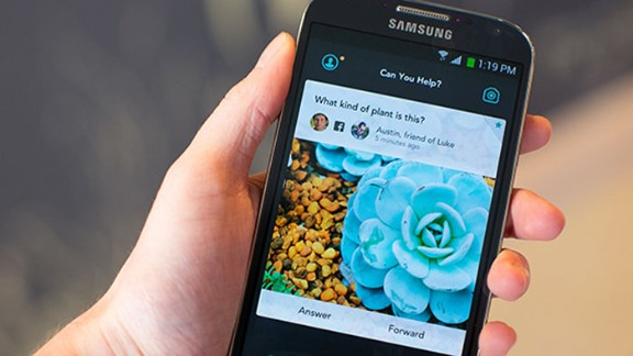 Jelly is an image-based search app that lets users enlist their friends to help them answer questions.