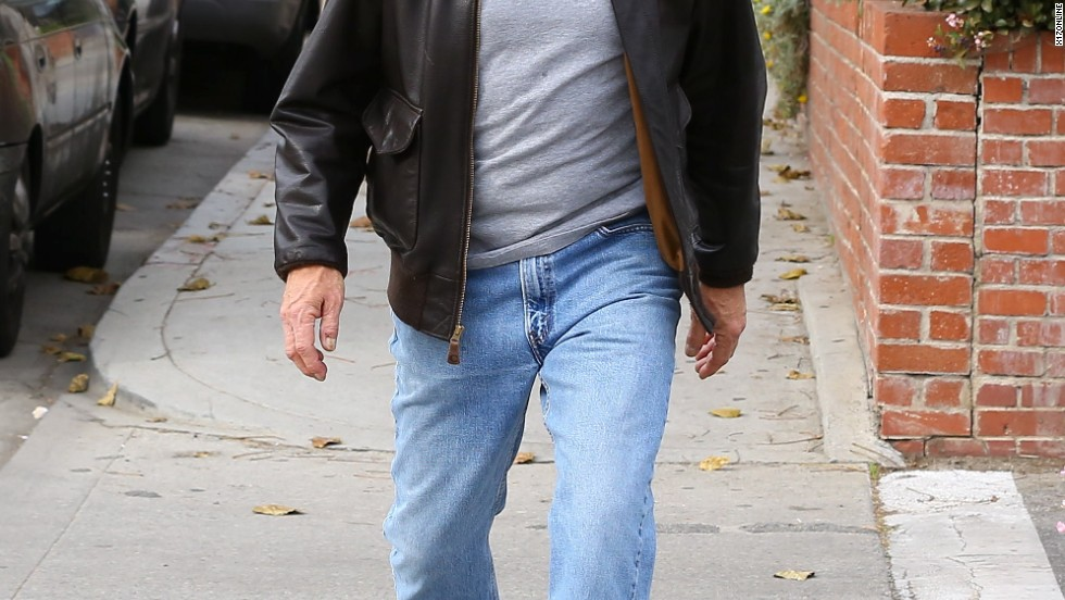 Harrison Ford's tennis shoes are apparently made for walking on January 7.