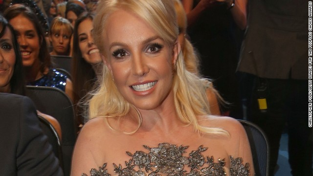 Britney Spears attends the 40th Annual People's Choice Awards on January 8, where she won her first award.