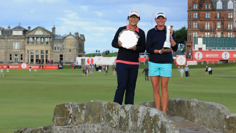 Before turning professional in October 2013, Ko (pictured here alongside Stacy Lewis at the British Open) was the top-ranked women's amateur for 130 consecutive weeks.