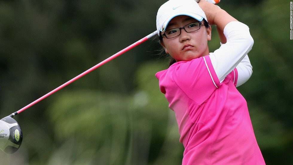 Even before she had become a teenager, Ko was a force in amateur tournaments in New Zealand, here taking part in an event in 2009 aged 11.