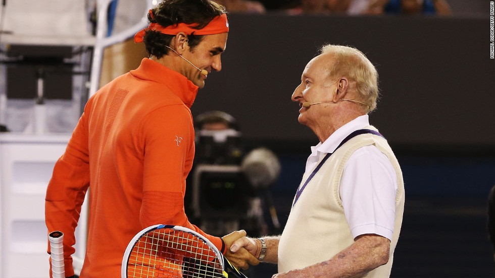 Two legends of tennis came together in Melbourne ahead of the Australian Open getting underway next week. Roger Federer, a 17-time grand slam winner, and the great Rod Laver delighted the crowd at the Rod Laver Arena by exchanging a couple of rallies ahead of a charity match.