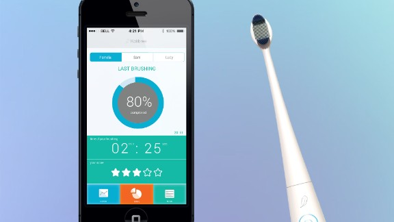 This connected toothbrush from Kolibree will track your brushing habits and send them to your phone.