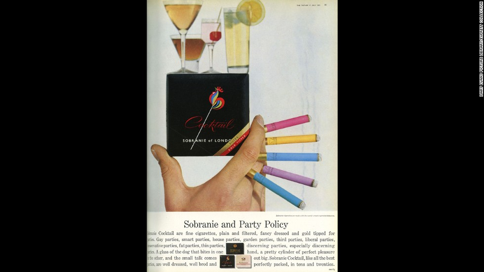Sobranie Cocktail cigarettes were available in a variety of colors.