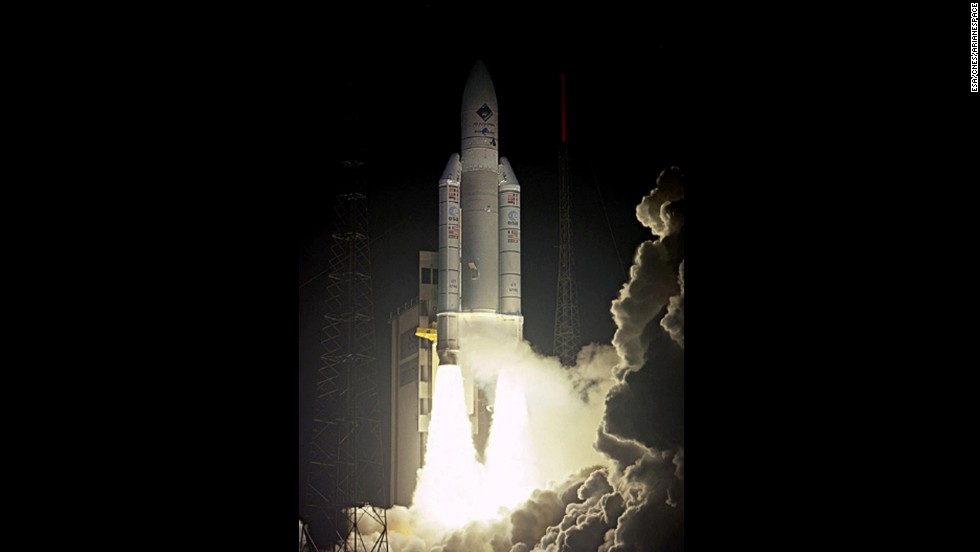 Rosetta's mission started on March 2, 2004, when it was launched on a European Ariane 5 rocket from Kourou, French Guiana.