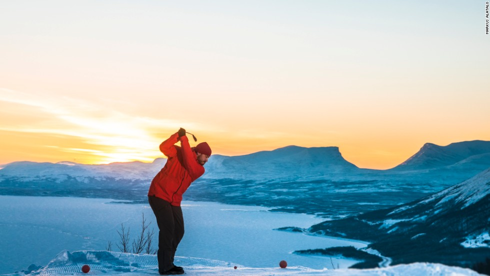 "Golfers in search of an alternative winter break might want to consider a trip to Swedish Lapland, where they can play snow golf in the picturesque surroundings of the<a href=""http://en.bjorkliden.com/"" target=""_blank""> Björkliden mountain resort</a>."