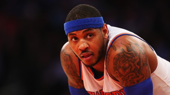 'Melo missed half of the 2014-15 campaign with left knee surgery, which gave him a front-row seat to watch the Knicks sink to their worst season in franchise history. Since signing with the Knicks in 2011 for three years and $65 million, the team has won one playoff series. Anthony recently re-signed for three years and a guaranteed $73 million, with a team option for a fourth year at $28 million.