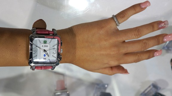 """<a href=""""http://www.eziolifestyle.com/"""" target=""""_blank"""" target=""""_blank"""">Ezio</a> also makes men's and women's smart watches that flash notifications from paired smartphones."""