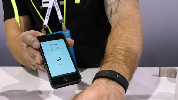 """The <a href=""""http://www.jaybirdsport.com/reign-activity-tracker/"""" target=""""_blank"""" target=""""_blank"""">Reign tracker</a> by Jaybird differentiates between types of activity and also monitors sleep patterns. It will cost $199 when it's released in the spring."""