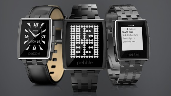 """Pebble has released an upgraded version of its smart watch. <a href=""""https://getpebble.com/steel"""" target=""""_blank"""" target=""""_blank"""">The Pebble Steel</a> comes with leather and metal straps and will cost $249."""
