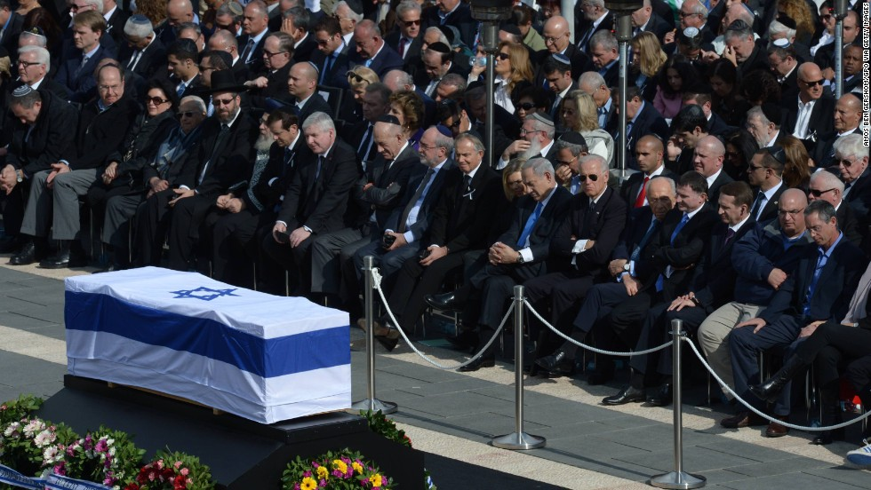 Israeli leaders and foreign delegates attend the state memorial service for former Prime Minister Ariel Sharon on Monday, January 13, in Jerusalem.