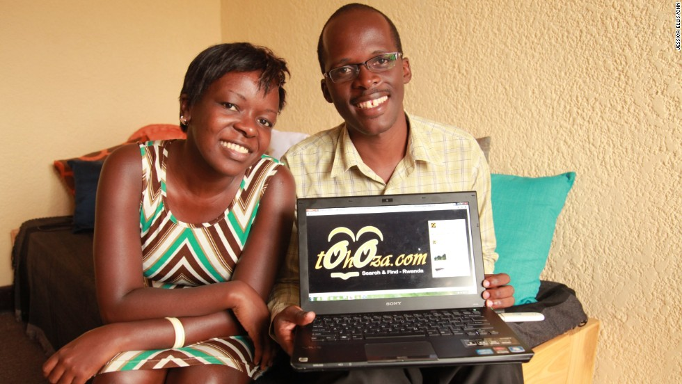 Siblings Chance Tubane and Patience Nduwawe are the founders of Tohoza, Rwanda's top online classified ad directory with some 9,000 visitors per day.