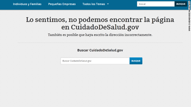 Links in www.cuidadodesalud.gov , the Spanish language version of healthcare.gov, sometimes led to  dead ends.
