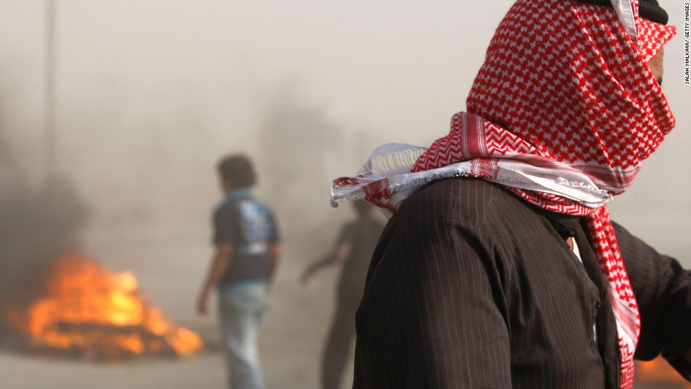 Jordanian tribals and residents of some villages south of Amman blocked the international road in protest with large rocks and burning tyres stopping all traffic in both directions in October 2011.