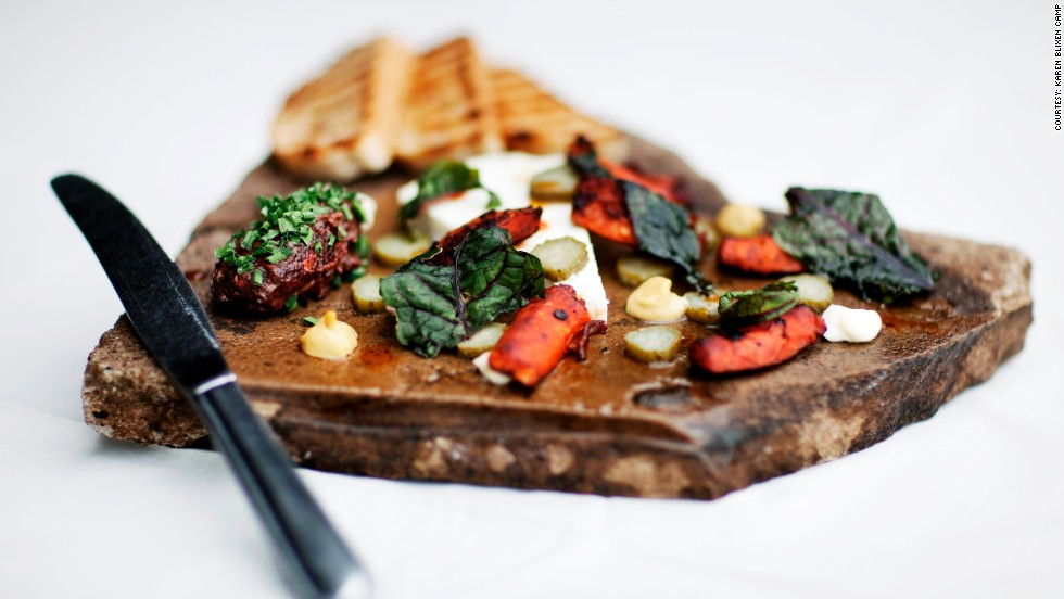The aspiring Maasai chefs are also keen on Italian food. Bruschetta and roasted vegetables pictured here.