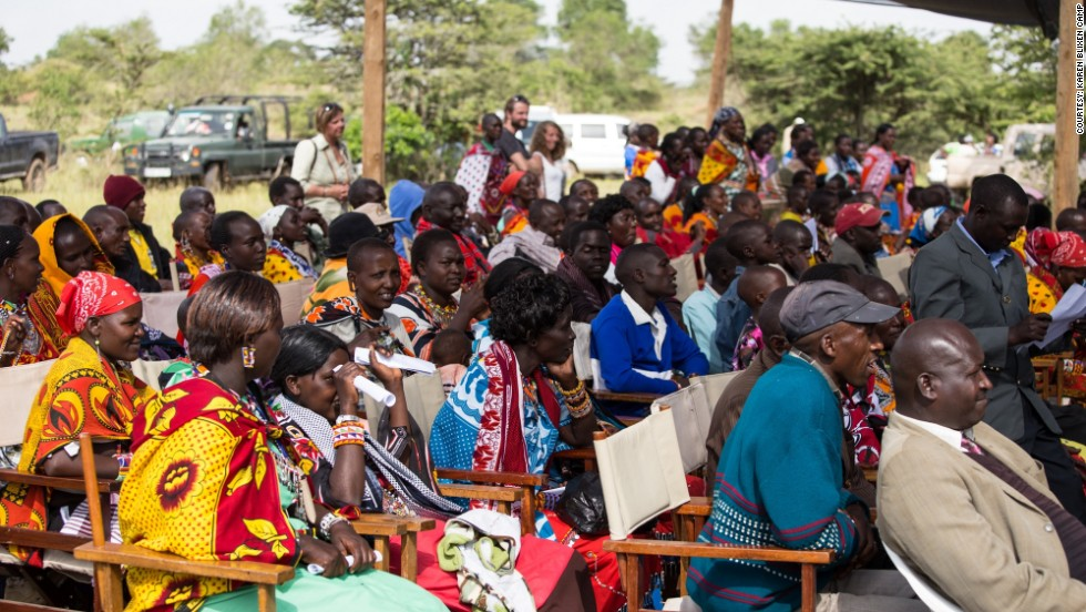 When students complete the 18-month course, villagers from the local communities in the Mara Maasai region are invited to a graduation ceremony.