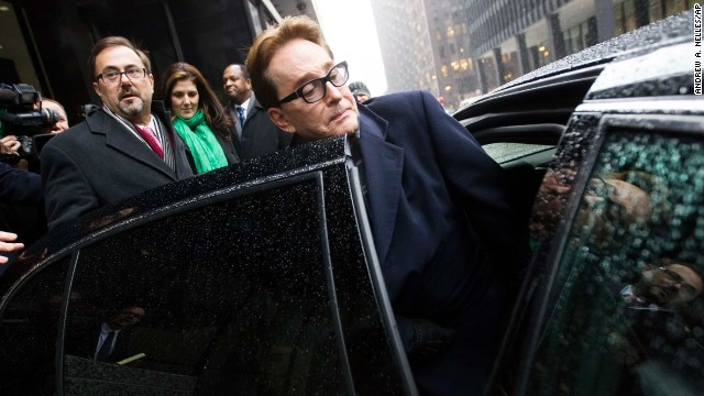 H. Ty Warner, the billionaire who created Beanie Babies, leaves court in Chicago after being sentenced to two years of probation for tax evasion.