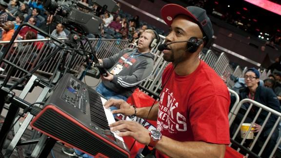 "Atlanta Hawks crowd entertainer ""Sir Foster"""