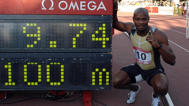 Asafa Powell had held the 100m world record until compatriot Usain Bolt beat it in 2008, eventually lowering the mark to 9.59 a year later