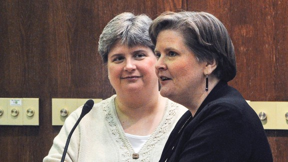 Sharon Baldwin, left, and Mary Bishop are two of four plaintiffs in a lawsuit filed in November 2004 in federal court in Tulsa challenging the federal Defense of Marriage Act and the Oklahoma Constitution's ban on same-sex marriage.