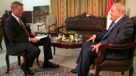 Former interim Prime Minister Ayad Allawi, seen here in an interview with Holmes, became Iraq