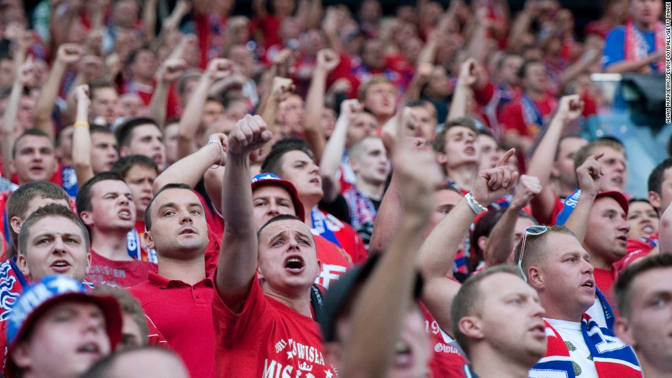 "Another Polish team, Wisla Krakow, has a gang of supporters called the ""Jude Gang"" which is notorious for its anti-Semitic views. Its derby matches with Cracovia, a club founded by Jews in 1906, is often marred by racial abuse."