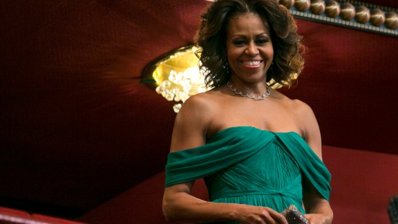 """The first lady, seen here in December 2013 during the Kennedy Center Honors in Washington, D.C., is a fan of the show """"Scandal."""""""