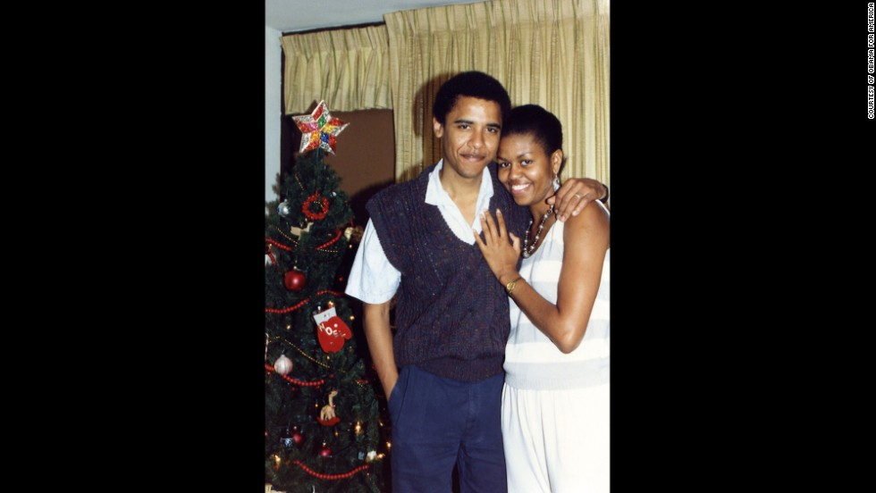 She met Barack Obama when she was assigned to be his mentor at Sidley & Austin, a Chicago law firm. Here, the two pose for a photo in Hawaii in 1989.