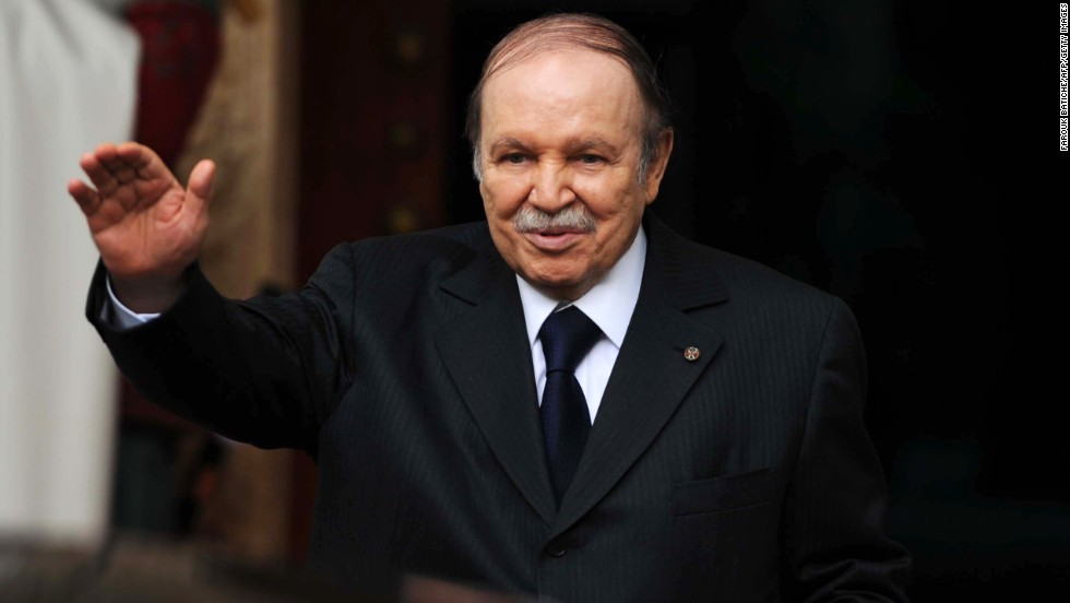 "Algerian President Abdelaziz Bouteflika <a href=""http://www.cnn.com/2013/04/27/world/africa/algeria-president-stroke/index.html"">suffered a ministroke in April </a>and hasn't appeared as much in public since then. State media reported on January 14 that he's in Paris for a routine checkup and that his health is improving."