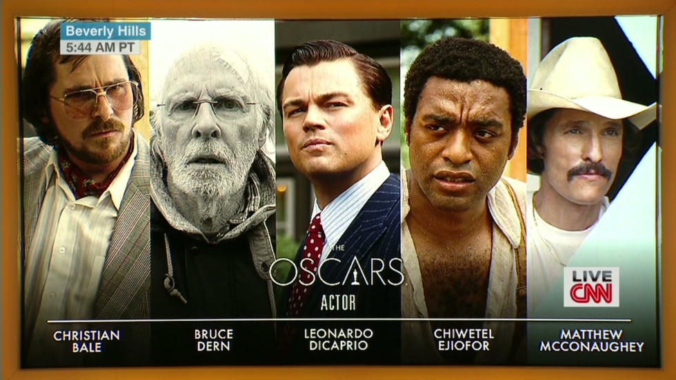The best actor nominees are