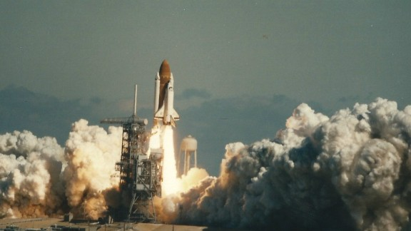 Challenger lifts off on January 28, 1986. 73 seconds later, the spacecraft exploded.