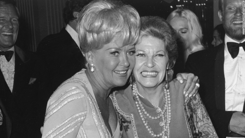 Martha Raye (1973), at right with Betty Grable.
