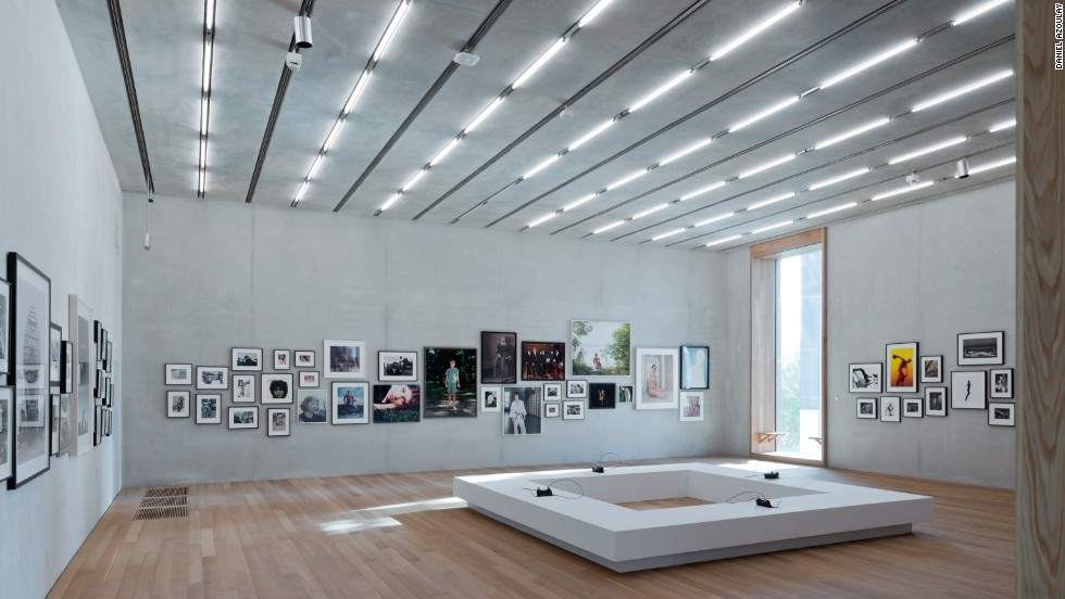 The permanent collection galleries are on the first and, principally, the second level, which  also house extensive temporary exhibition galleries.