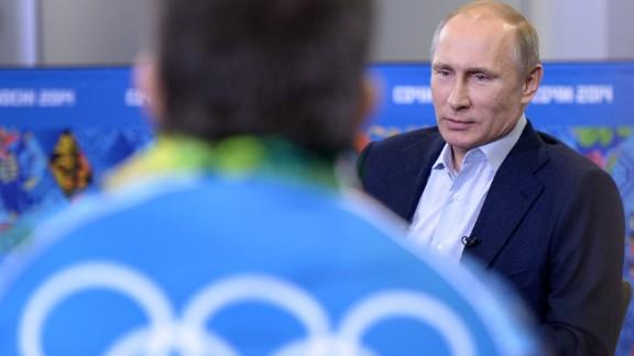 Russian President Vladimir Putin meets upcoming Olympic games