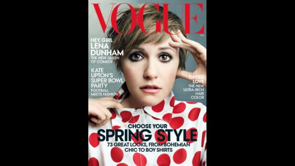"""Vogue's February 2014 issue featuring Dunham came under fire from critics who said it was severely edited. Not long after the issue was released, website Jezebel put up a $10,000 reward for anyone who would submit pictures of Dunham before they were retouched. Dunham tweeted, """"10K? Give it to charity then just order HBO."""""""
