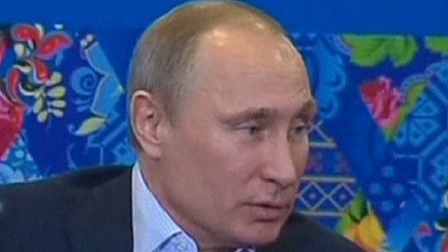 Putin speaks on welcoming gays in Sochi