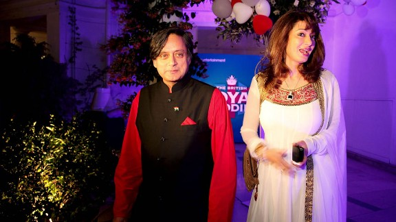 Tharoor and his wife attend a function at a high commissioner