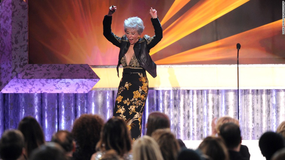 "Rita Moreno accepts this year's Screen Actors Guild Life Achievement Award. ""It's early in the third act of my life,"" the 82-year-old Moreno said."