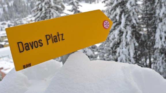 DAVOS, SWITZERLAND - JANUARY 10: A Davos sign is displayed on January 10, 2012 in Davos, Switzerland. The World Economic Forum, which gathers world top leaders will take place from January 25, 2012 to the 29th. (Photo by Harold Cunningham/Getty Images)