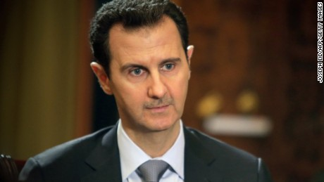 In a picture released on January 20, 2014, Syrian President Bashar al-Assad gives an interview to AFP at the presidential palace in Damascus on the weekend.